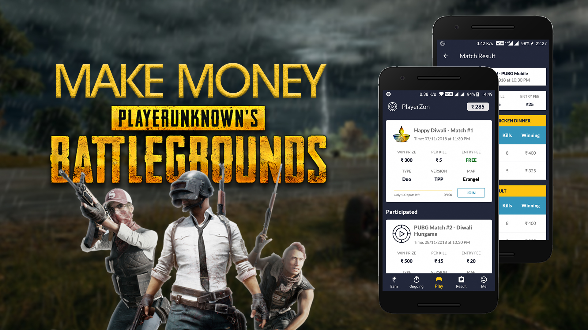 How to Make Money by Playing PUBG Mobile - PlayerZon App