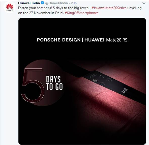 Huawei PORSCHE DESIGN Mate 20 RS confirms to Launch in India